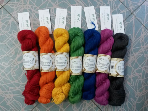 6 x 100g skeins of West Yorkshire Spinners 'Gems' (rainbow shades)